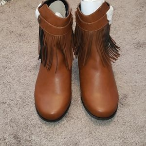 Brand new booties with tassels